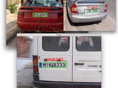 Number plate recognition from image using Keras
