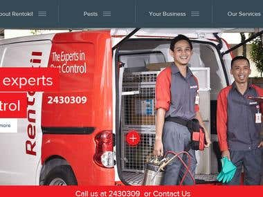 WEBSITE FOR A PEST CONTROL AGENCY