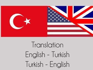 English to Turkish Translation