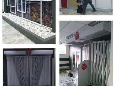 Showroom of ceramic tile manufacturer