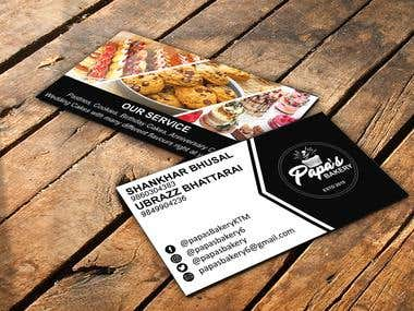 Visiting Card For Papa's Bakery