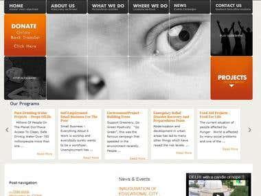 Charity Website (Crowd Funding plus Blog)