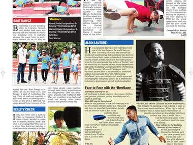 Newspaper Cover Story - Dance Crews