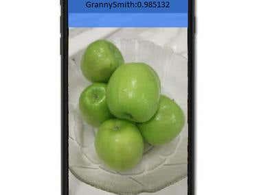 Fruit identify iphone app using deep CNN