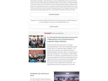 Internal Communications Product - Email Newsletter
