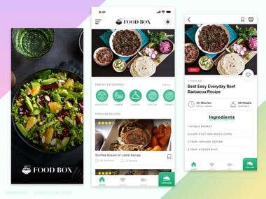 Food Recipe WordPress + Ionic App
