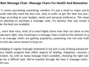 5 Best Massage Chair- Massage Chairs For Health And Relaxati