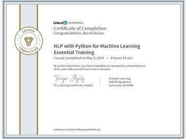 Certification - NLP Course with python