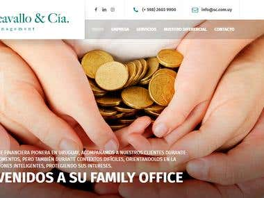 S. Carcavallo & Cia Website Development