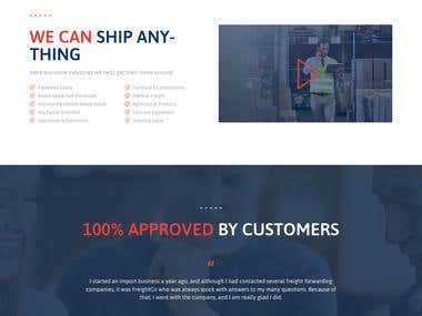 Freight Forwarding Website Development