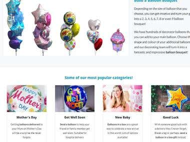 Web Site(Ballons By Post)