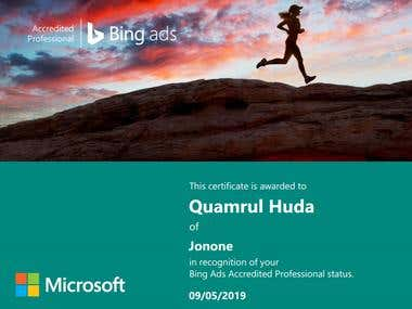Bing Ads Accredited Professional status