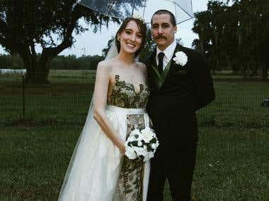 Bespoke Wedding Dress with removable skirt