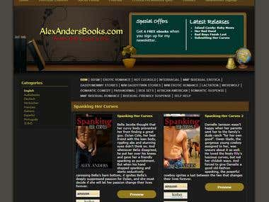 AlexAndersBooks Website