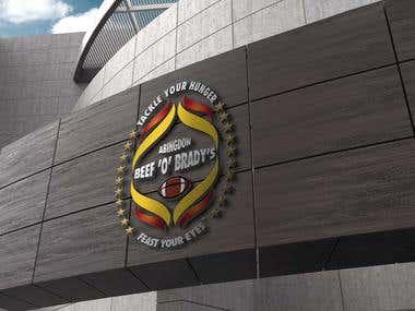 Sports Restaurant Logo Design