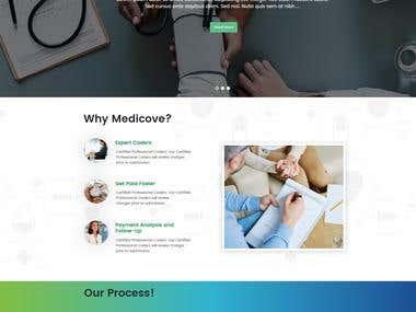 Website for medical billing company