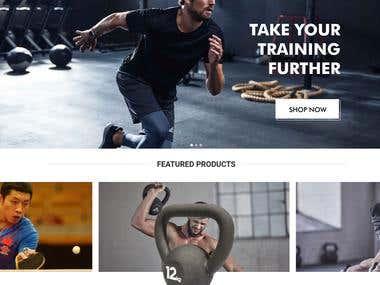 Fitness Website Developed