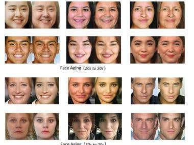 FaceAging using deep GAN model