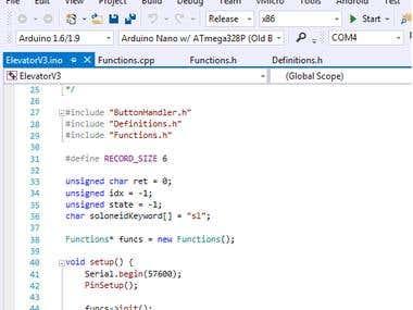 Arduino firmware using Visual Studio