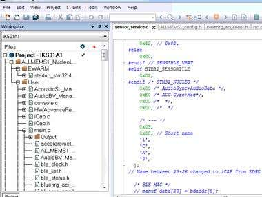 ARM based micro-controller programming using IAR