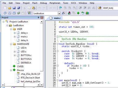 Keil-uVision for ARM based micro-controller programming