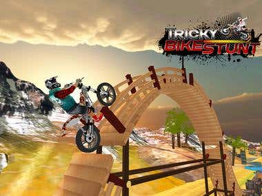Tricky Bike Racing With Crazy Rider 3D