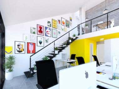 Interior design for an office in Madrid
