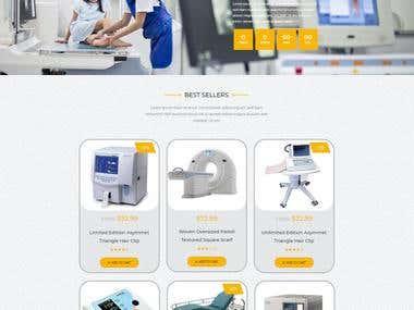 Website Development for Medical Treatment Equipments