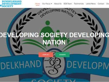 Bundelkhand Development Society Website