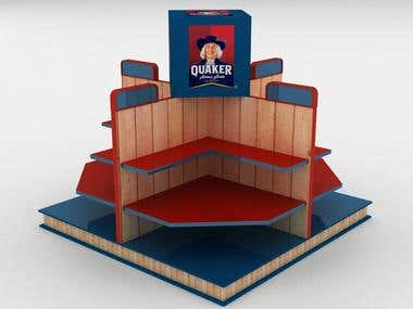 Quaker Super market booth design