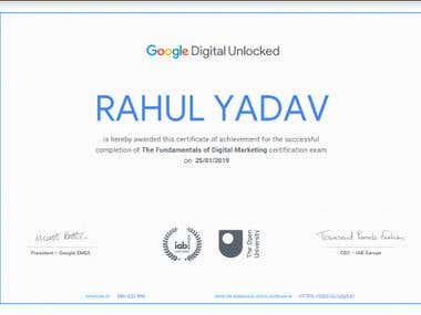 Google Certified Digital Marketing Expert Certificate