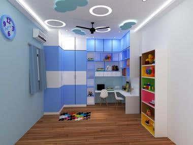 kids bedroom interiors
