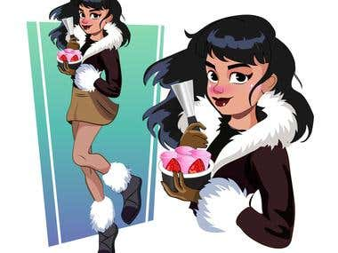 Eskimo character for ice cream shop