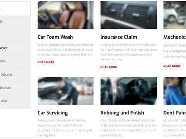 Web designing for Unity Car Care