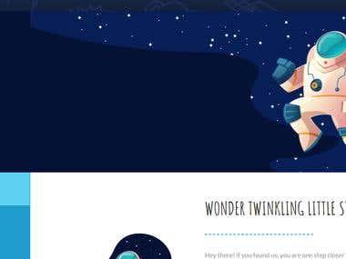 Web designing for Smart Planetarium