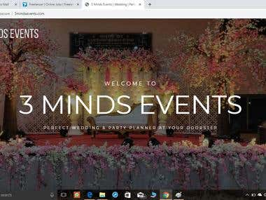 Web designing for 3 Minds Events