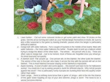 Nine Picnic Games