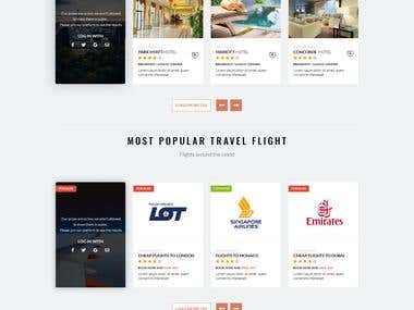 Travel agency UI/UX design