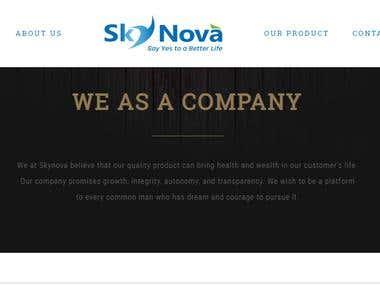 Website Designed For Sky Nova