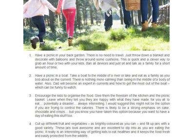 Eight ways you can make your family picnic unique