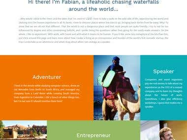 Adventurer Speaker Entrepreneur - Fabian Dittrich
