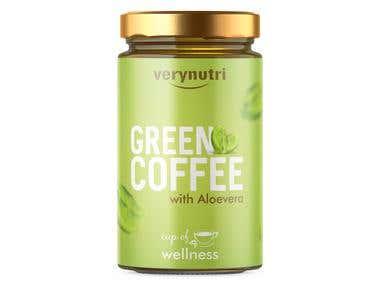 Green Coffee Jar - Very Nutri
