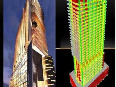 Analysis and design of 34 story high rise building