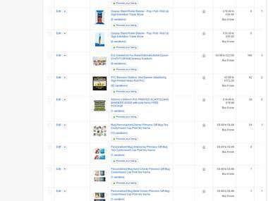 Ebay bulk listing