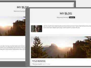 Responsive Web Page Template