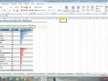 Data Mining by Excel - Key Influencer