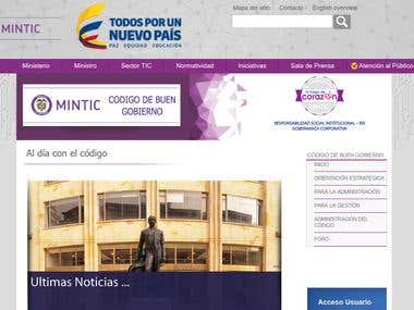 PAGINA CODIGO DE BUEN GOBIERNO MINTIC COLOMBIA