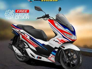 custome Decal Kits motorcyle, vehicle, car wrap,