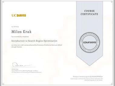 University of California, Davis: SEO Certificate