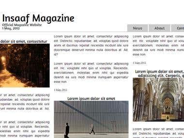 Responsive Magazine Site